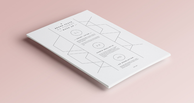 Psd A4 Paper Mock-Up Vol3