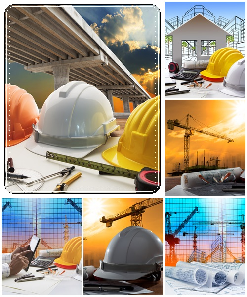 Construction backgrounds stock photo