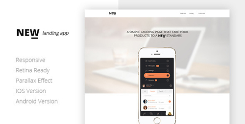 ThemeForest - NEW Retina Ready App Landing Page - RIP