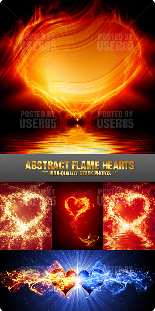 Stock Photo - Abstract Flame Hearts