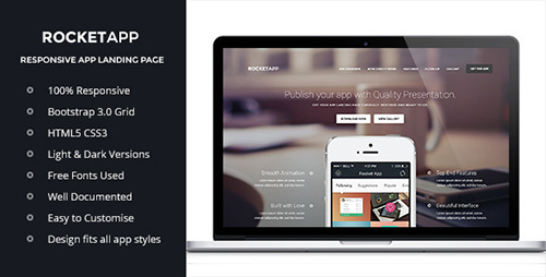 ThemeForest - Rocket App - Responsive App Landing Page - RIP