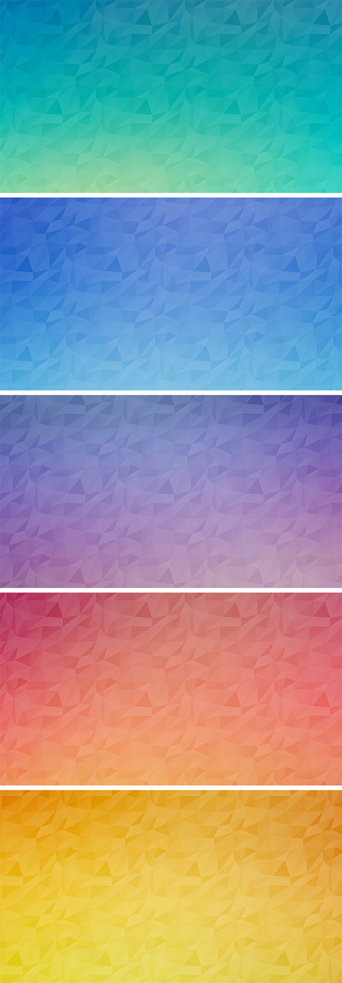 5 Seamless Polygon Backgrounds Vol.2 - .PSD Source, .PAT Patterns, .JPG Images