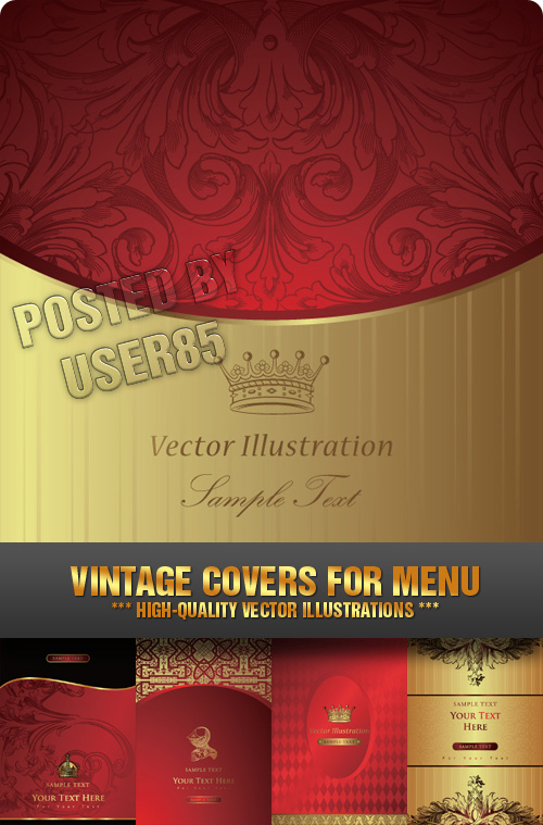Stock Vector - Vintage Covers for Menu