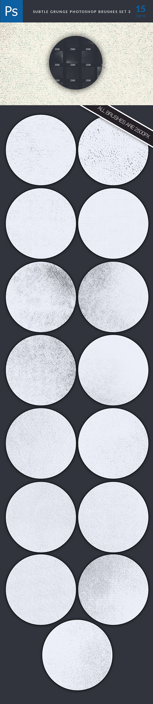 Subtle Grunges Photoshop Brushes Pack 3