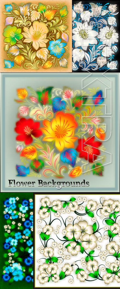 Flower backgrounds in Vector - Delicate flower