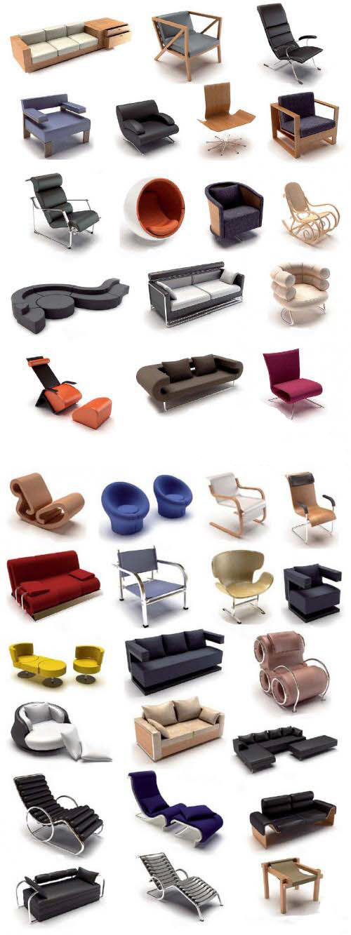 Modern Furniture 3d MAX Collection