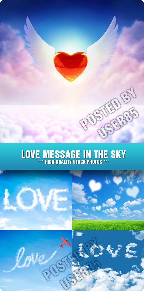 Stock Photo - Love Message in the Sky