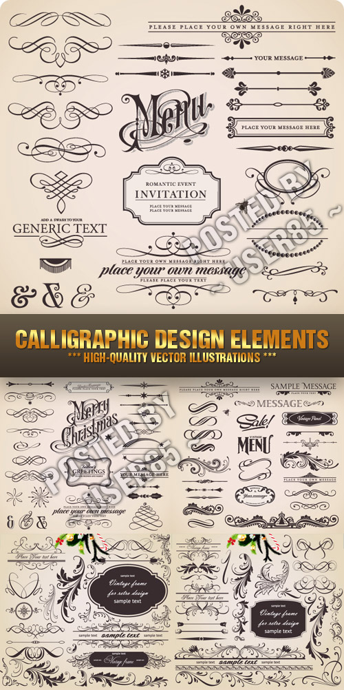 Stock Vector - Calligraphic Design Elements
