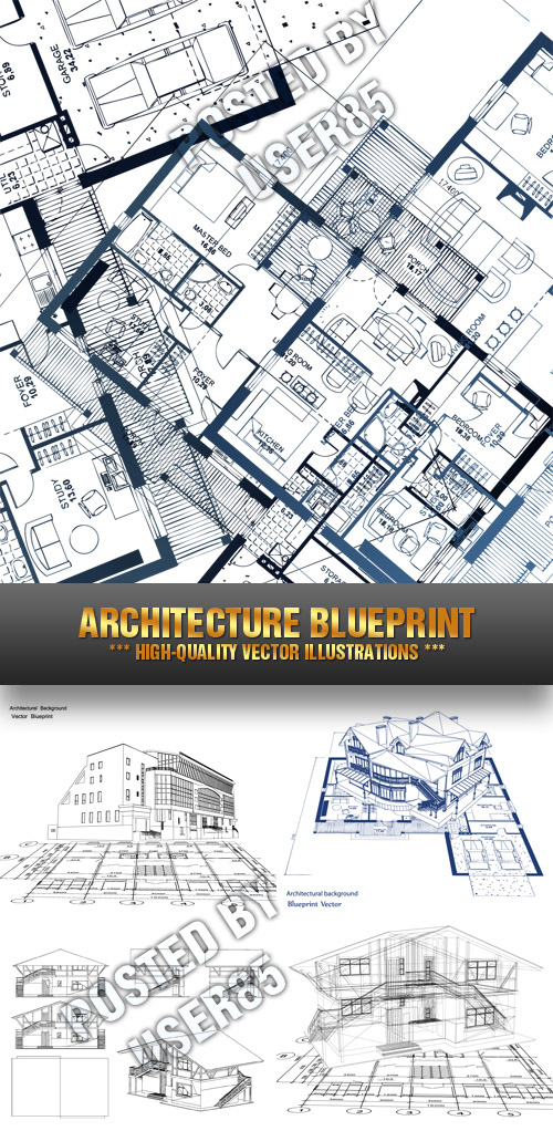 Stock Vector - Architecture Blueprint