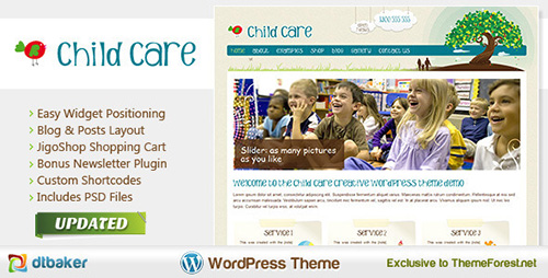 ThemeForest - Child Care Creative v2.1 - Shop and Kids Theme