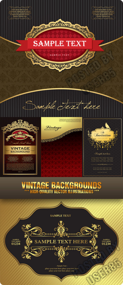 Stock Vector - Vintage Backgrounds