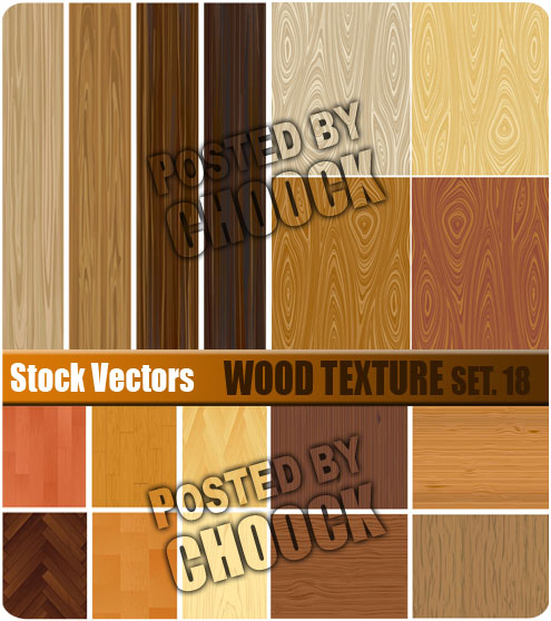 Stock Vector: Wood texture. Set.18