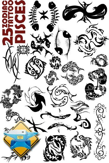 chinese zodiac tattoo. 25 Zodiac Tattoo Pisces