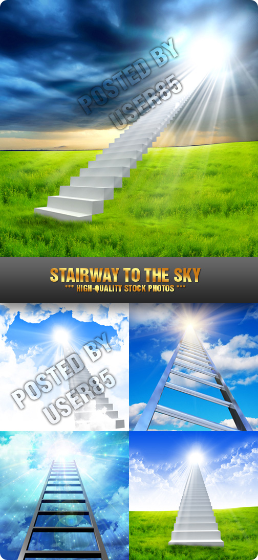 Stock Photo - Stairway to the Sky