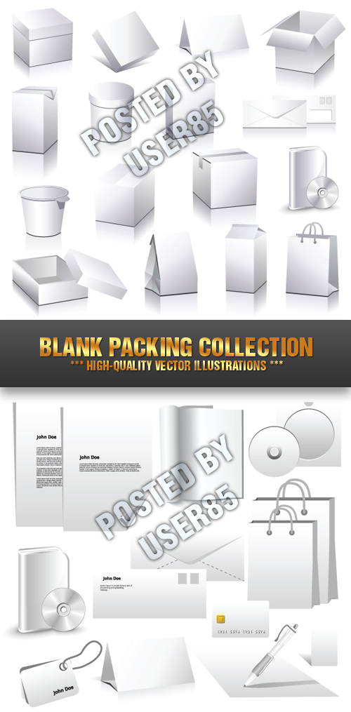 Stock Vector - Blank Packing Collection
