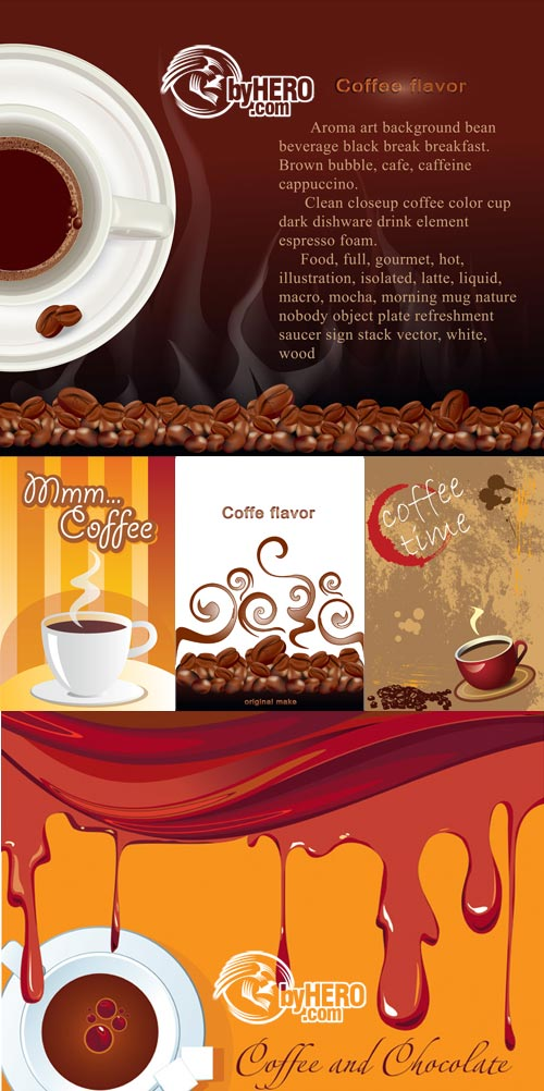 Coffee Backgrounds 5xEPS - Shutterstock