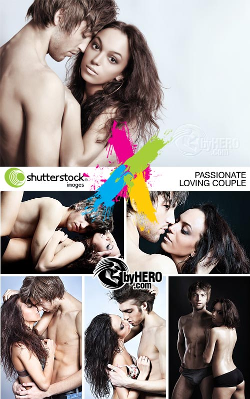 Passionate Loving Couple 6xJPGs - Shutterstock