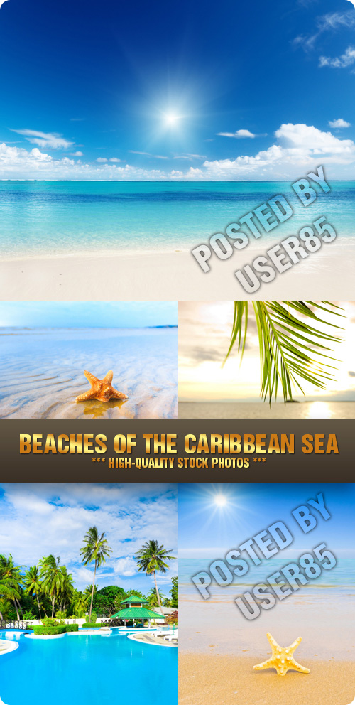 Stock Photo - Beaches of the Caribbean Sea