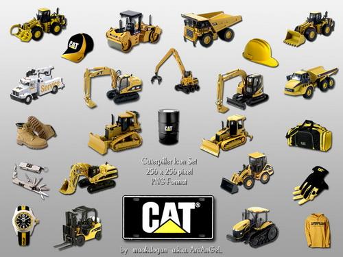 بوكلينات معدات cat معدات طرق ونقل