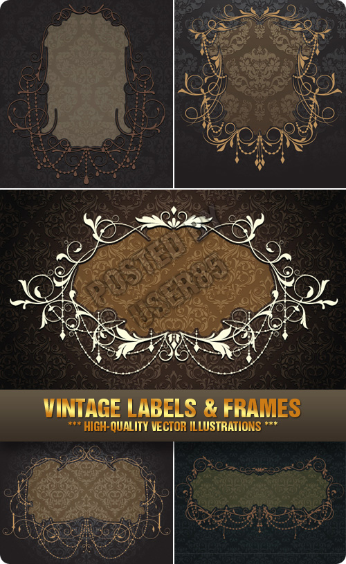 Stock Vector - Vintage Labels & Frames