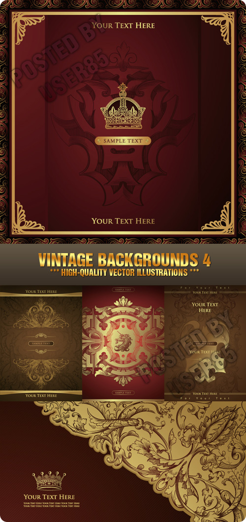 Stock Vector - Vintage Backgrounds 4