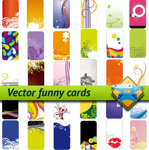 funny cards. Vector funny cards