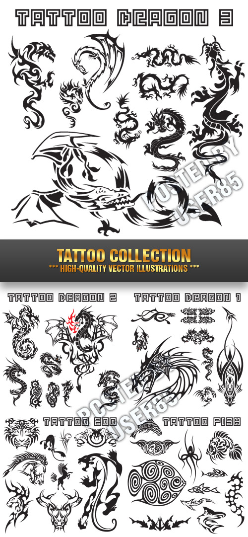 Stock Vector - Tattoo Collection