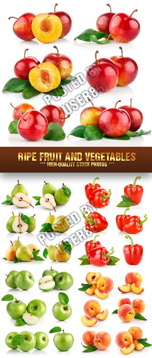 Stock Photo - Ripe Fruit and Vegetables