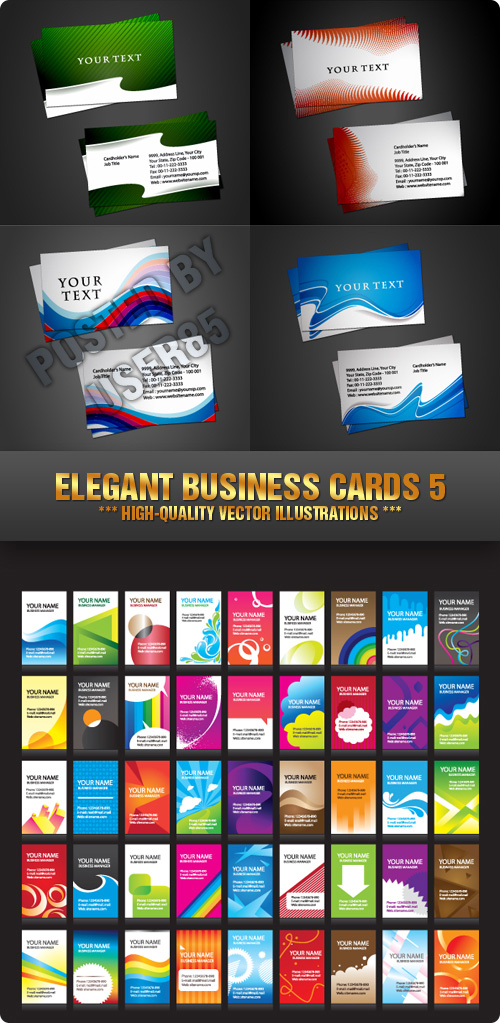 Stock Vector - Elegant Business Cards 5
