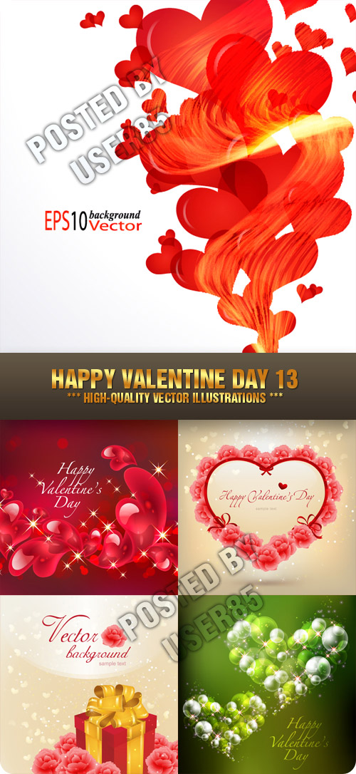 Stock Vector - Happy Valentine Day 13
