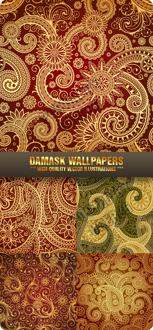 Stock Vector - Damask Wallpapers