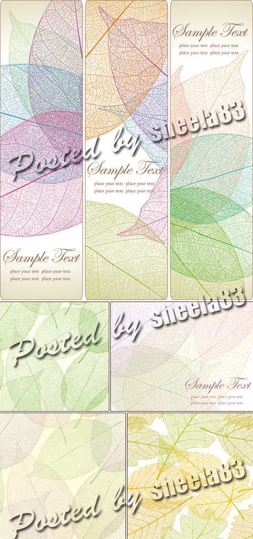 Leaves Seamless Patterns Vector