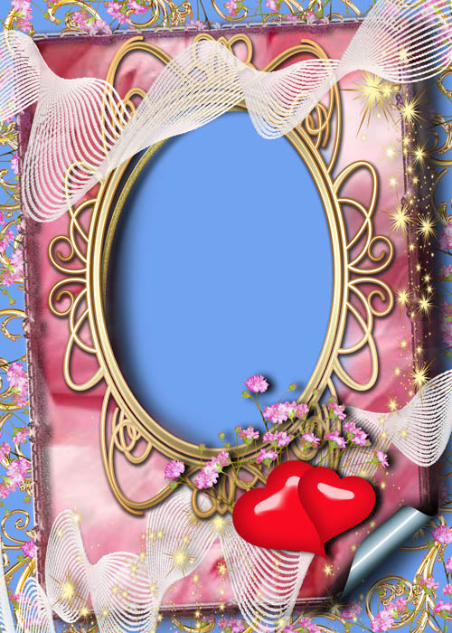 3 Love photoframes