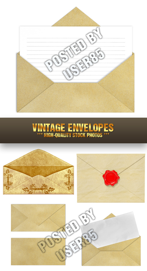 Stock Photo - Vintage Envelopes