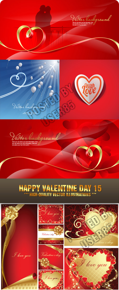 Stock Vector - Happy Valentine Day 15