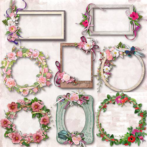 Cutouts for the frame - Floral