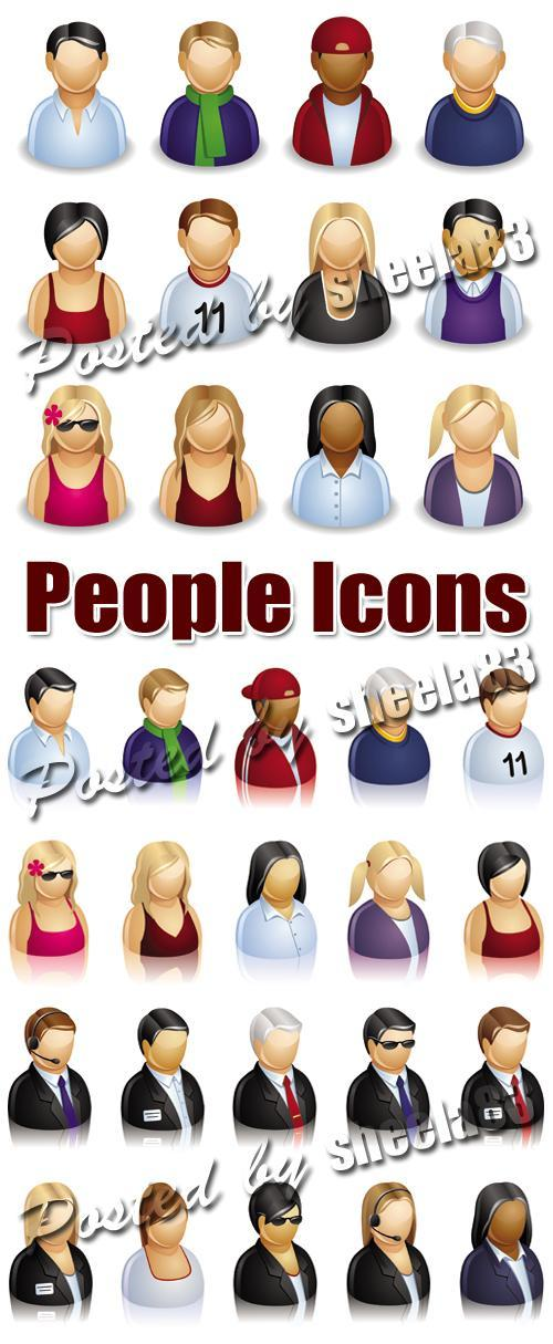 business people icon. People Icons Vector
