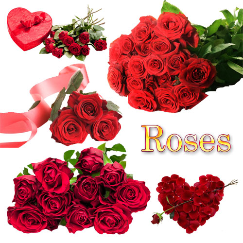 clipart hearts and roses. Clipart - Red Roses