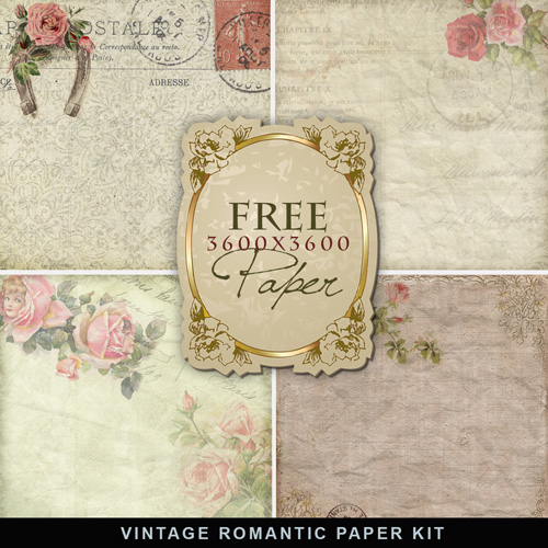 Old vintage romantic backgrounds