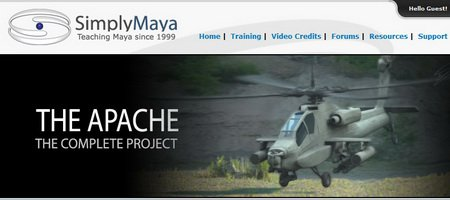 Simply Maya - The Complete Apache Helicopter Project