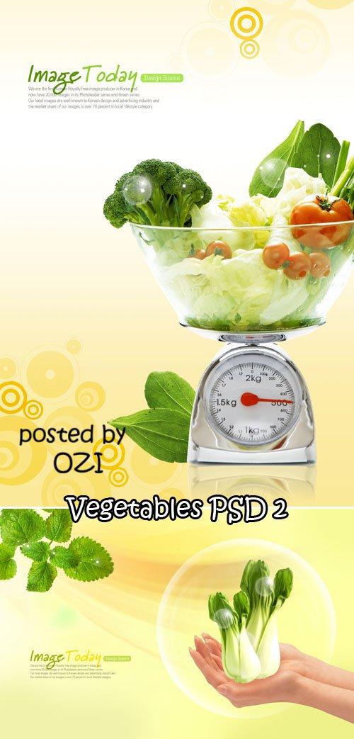 Vegetables PSD 2