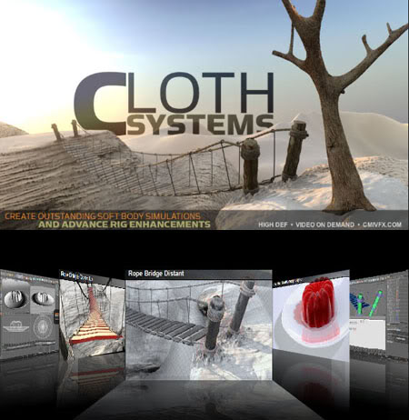 CMIVFX C4D Cloth Systems | 4.49 GB