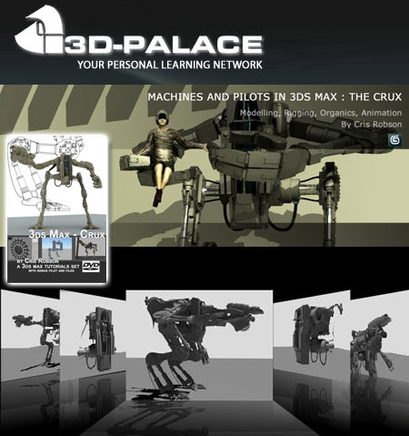 3D-Palace: 3ds Max-The Crux Mechanical Masterclass DVD Edition
