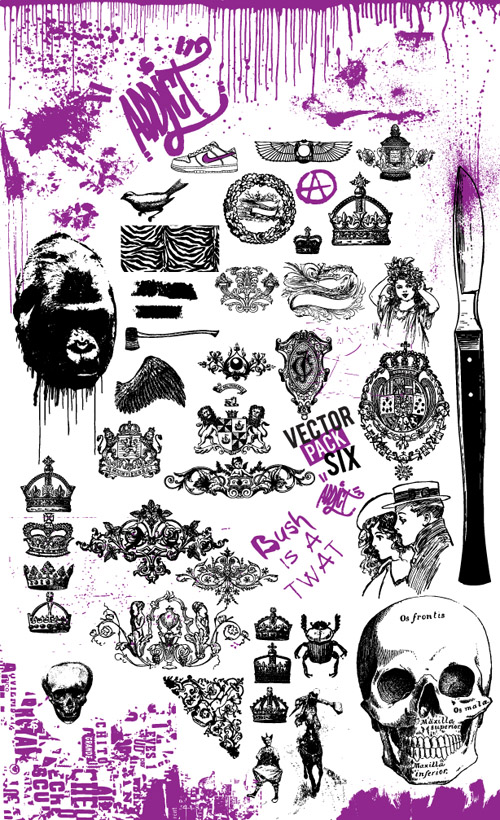 Vector Six Tatoo Pack by doomsday