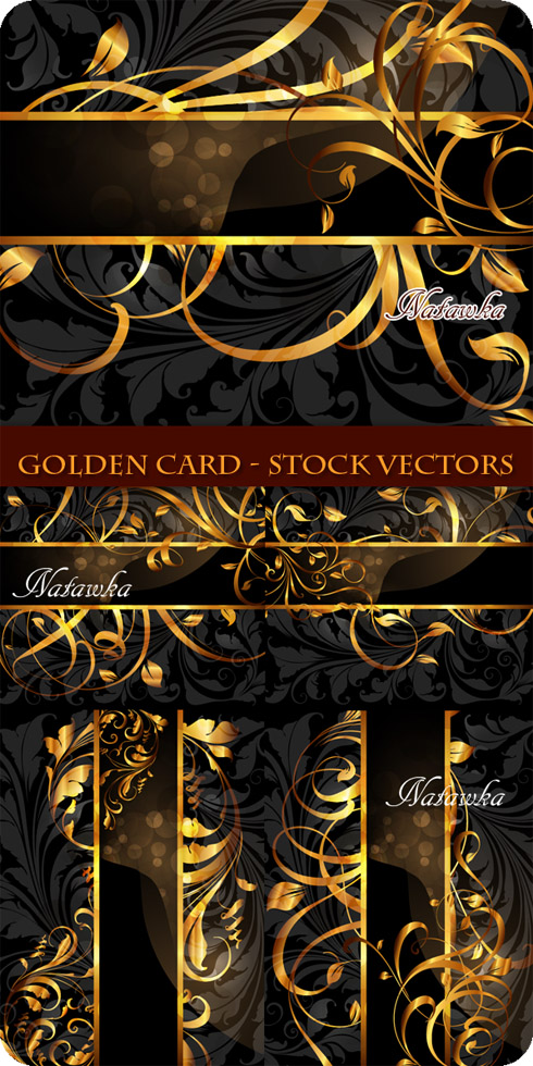Golden Card - Stock Vectors