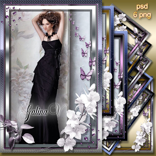 wallpaper purple and silver. Graceful Photoframes - Purple
