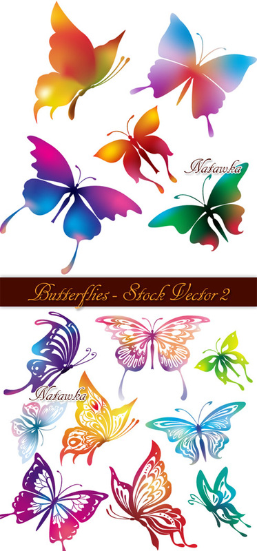 Butterflies - Stock Vector 2