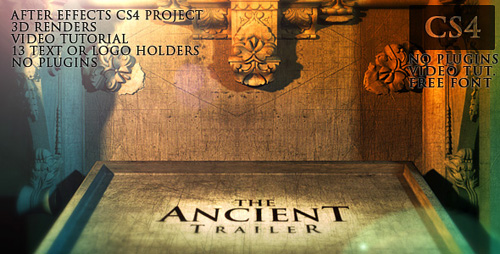 After Effects Project - The Ancient Trailer