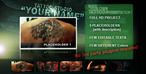 After Effects Project - Tattoo Studio 132674