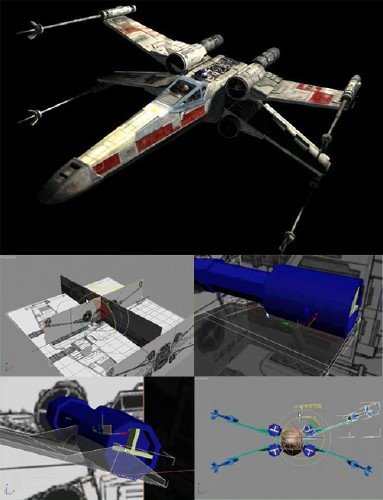 Detailed & Comprehensive Tutorial - Modeling X-Wing Futuristic Fighter